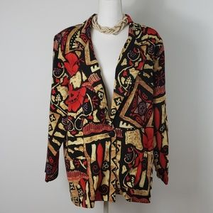 Joanna : Vintage Eccentric Abstract Car Coat